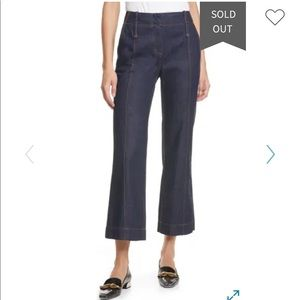 Tory Burch Crop Flare Nonstretch Jeans 28